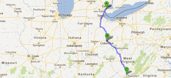 Blue Ridge Mountains West Virginia Map.Detroit To Blue Ridge Mountains Of Virginia Somewheresville